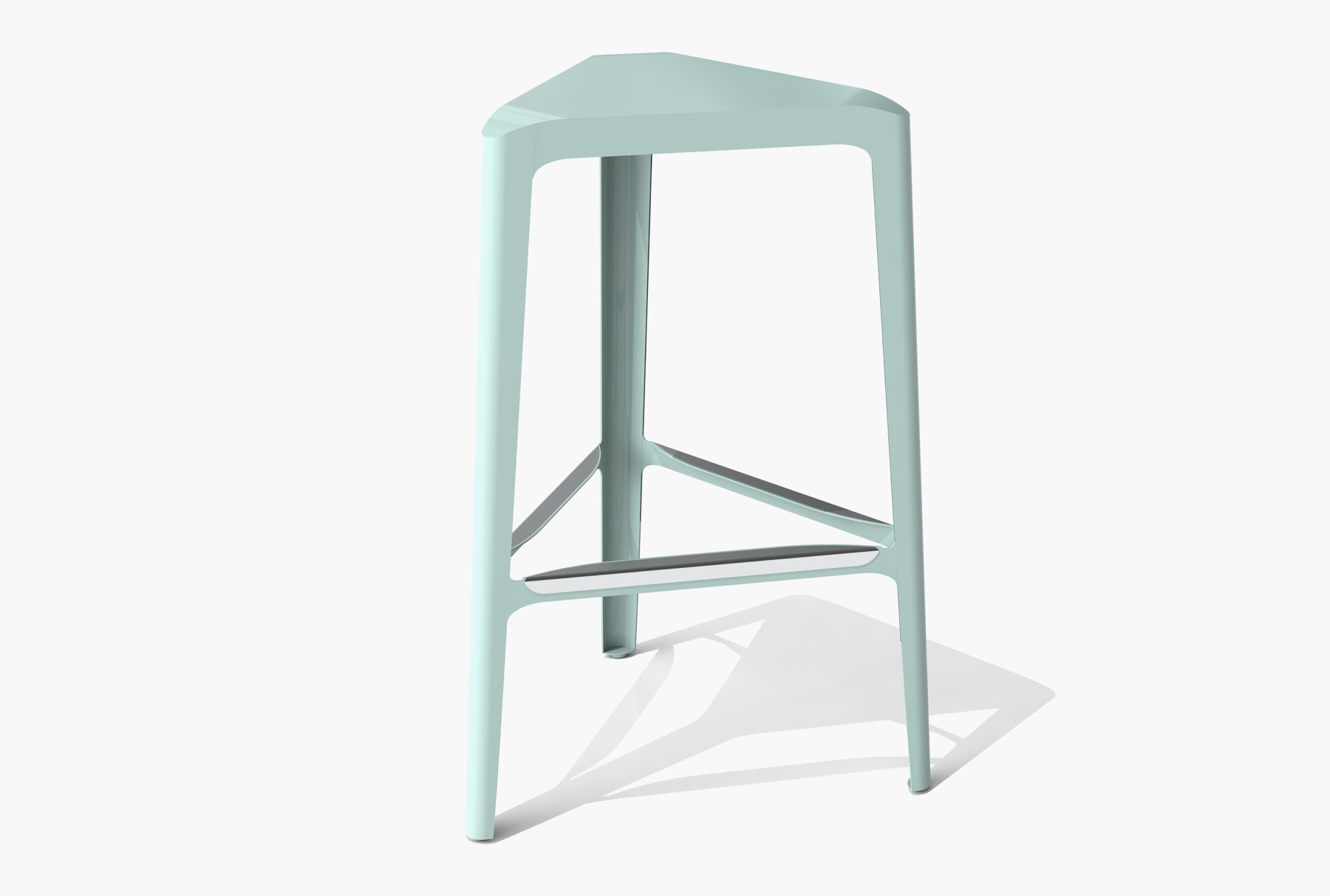 Arktura Clic Bar Stool in Sea Green