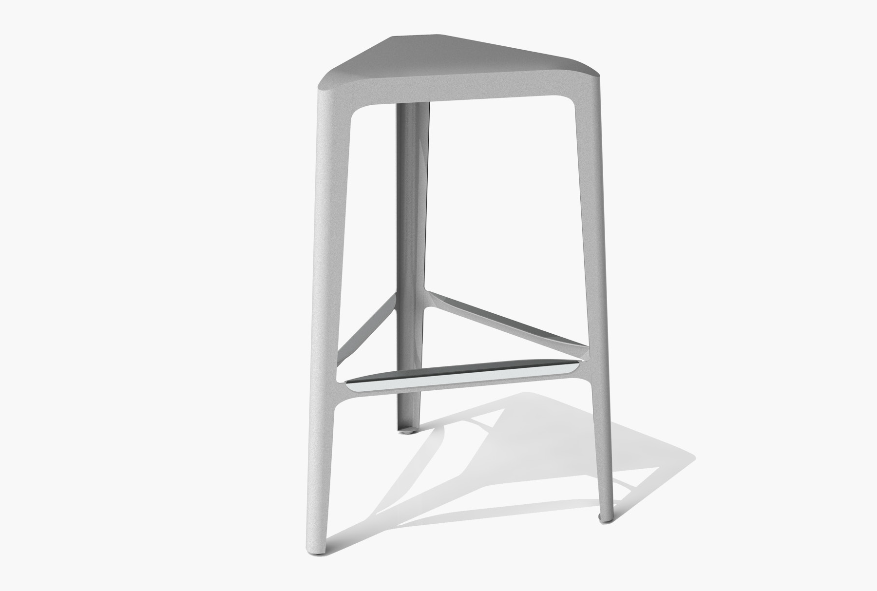 Arktura Clic Bar Stool in Silver Sand