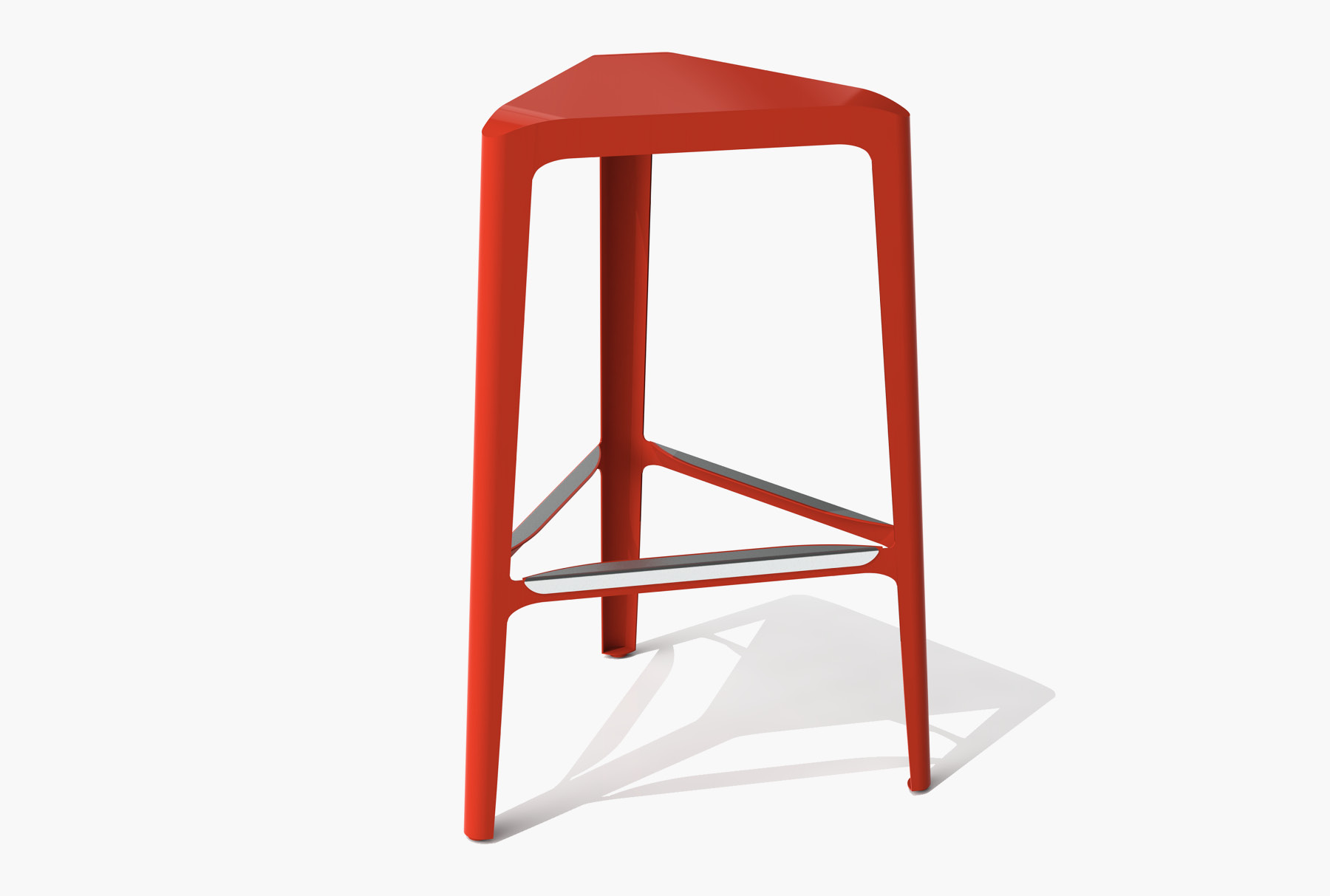 Arktura Clic Bar Stool in Spirit Red