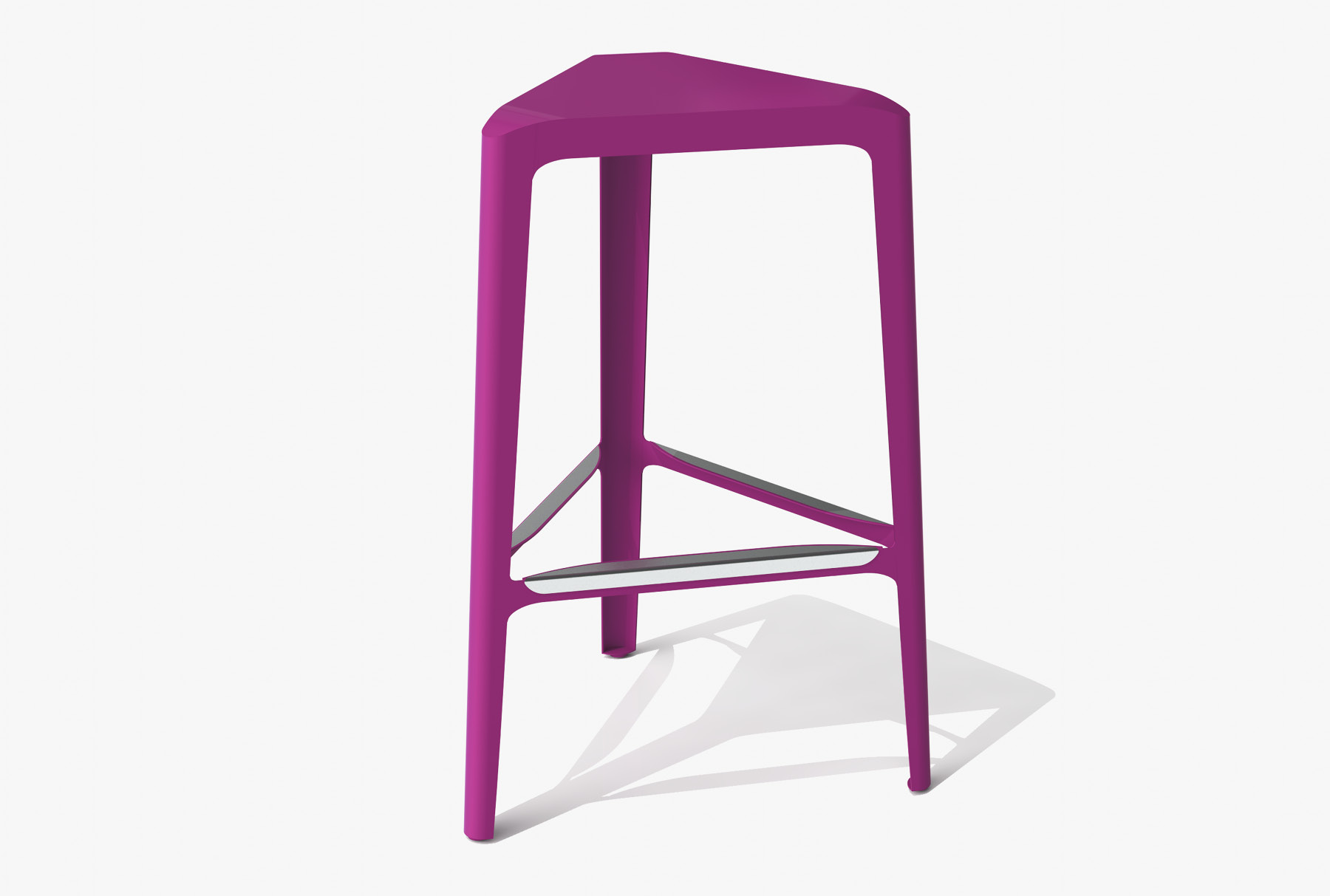 Arktura Clic Bar Stool in Wild Orchid