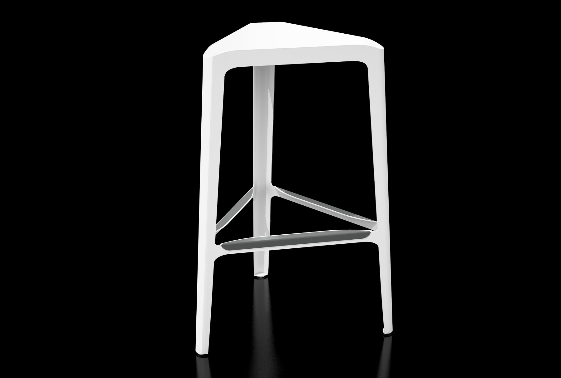Arktura Clic Bar Stool in Brilliant White