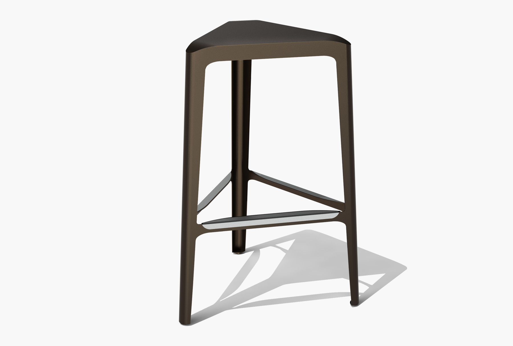 Arktura Clic Bar Stool in Burnished Bronze