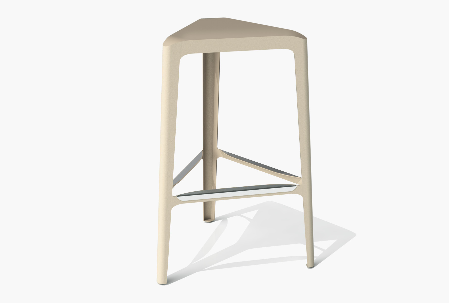 Arktura Clic Bar Stool in Chilled Champagne