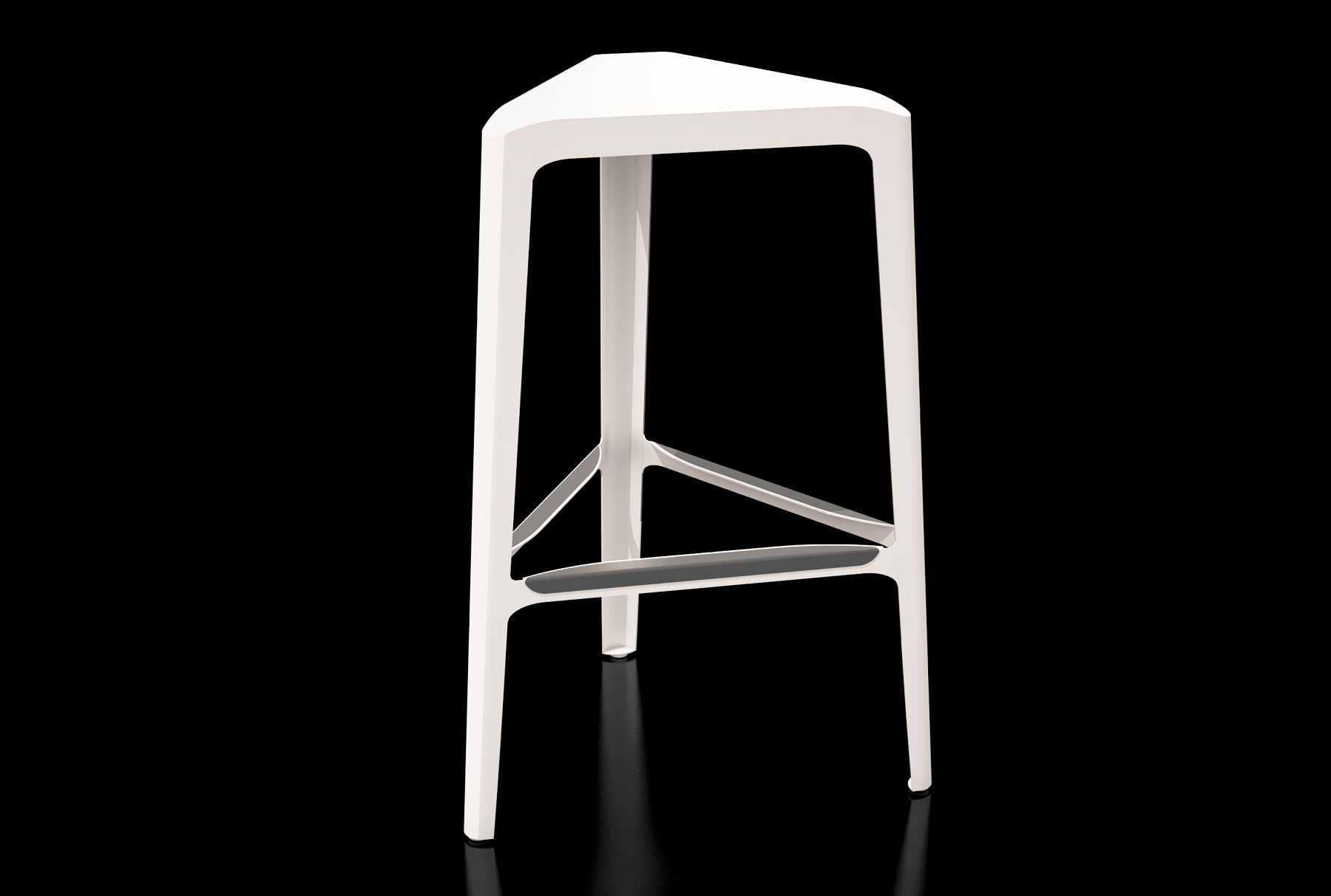 Arktura Clic Bar Stool in Cream White