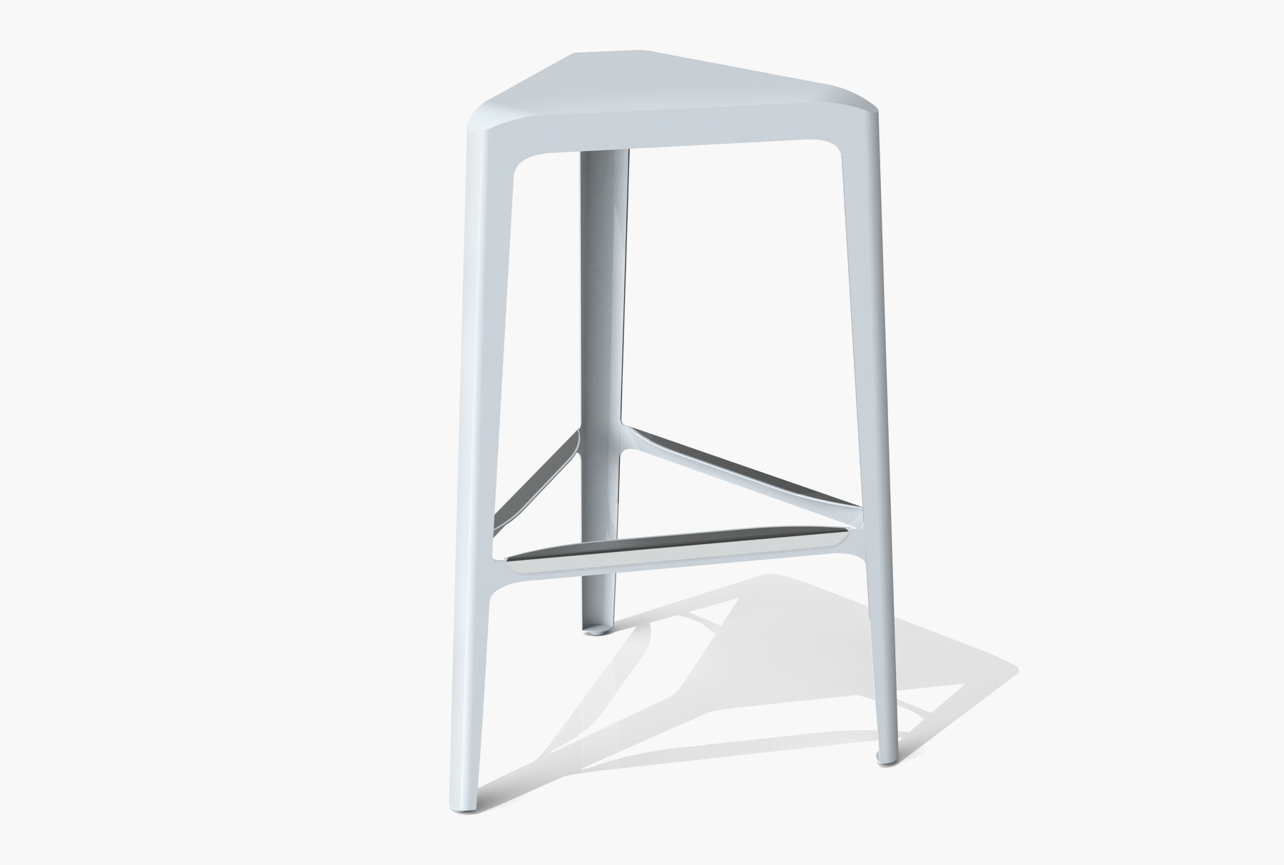 Arktura Clic Bar Stool in Glacier Gray