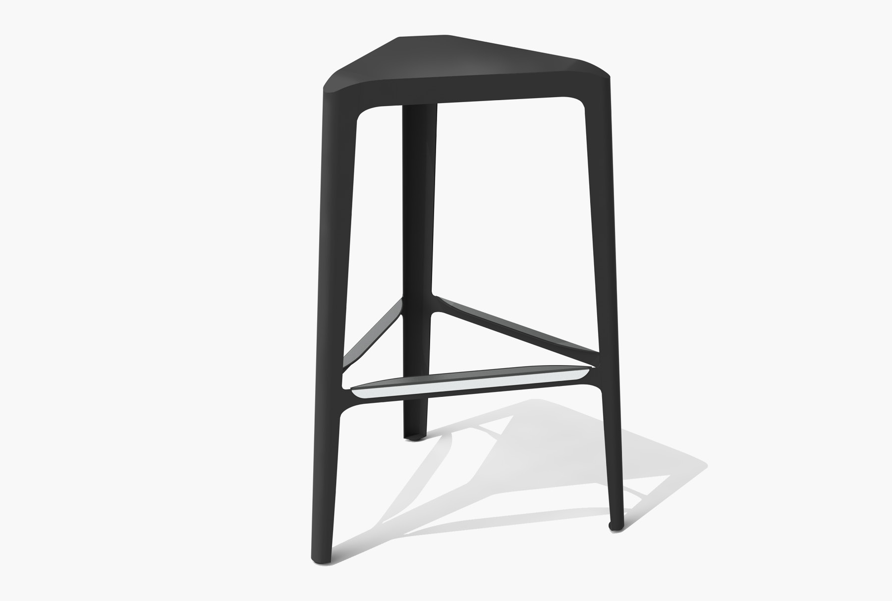 Arktura Clic Bar Stool in Jet Black