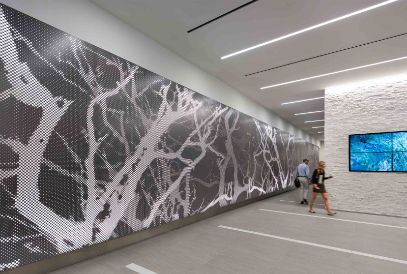 Perforated Panel System - Graphic Perf® Custom Photoreal Interior by Arktura