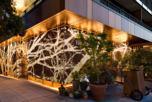 Arktura Graphic Per Photoreal - Exterior Metal Wall Panels With Lighting