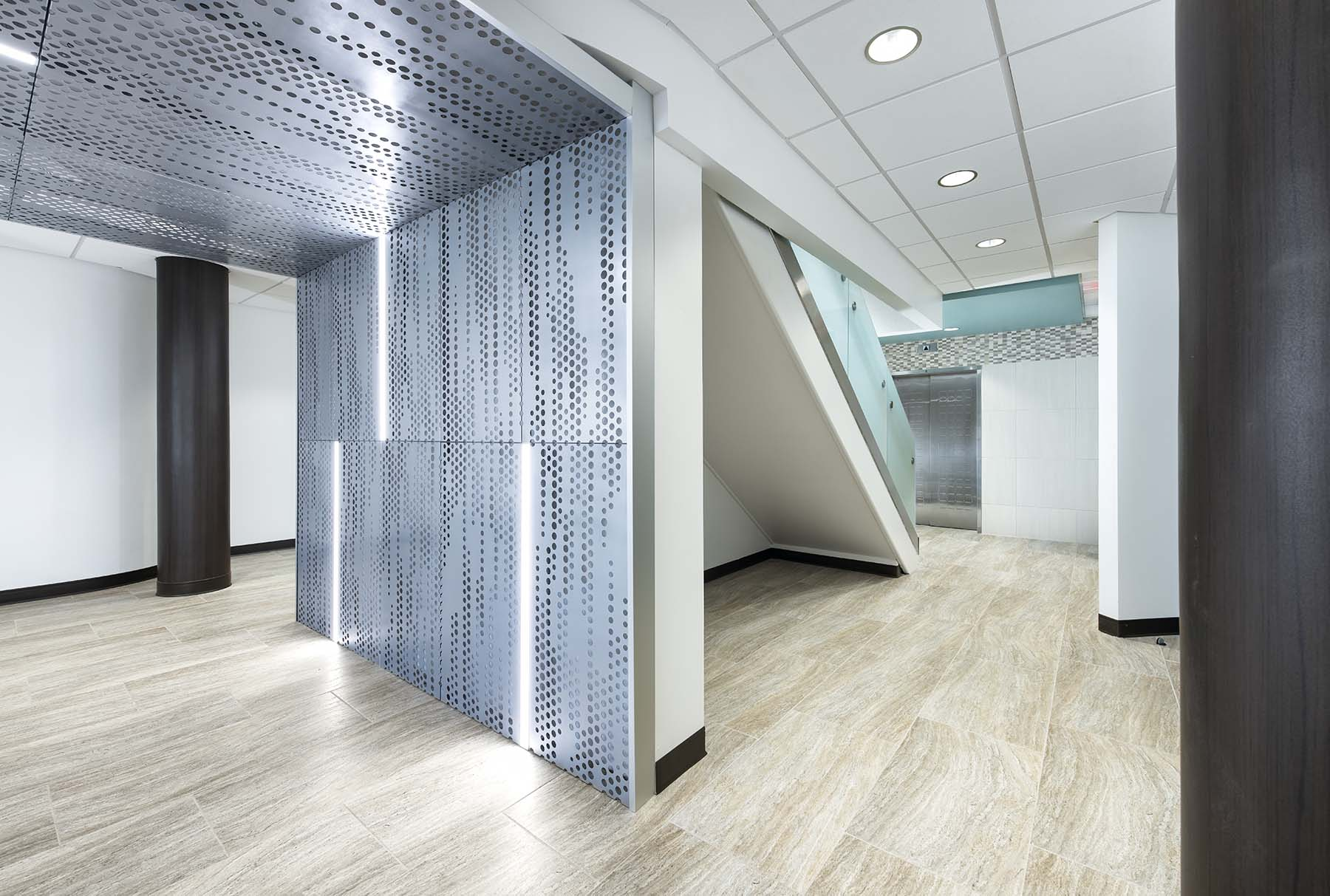Arktura Vapor Trail wall and ceiling panels with InLine lights
