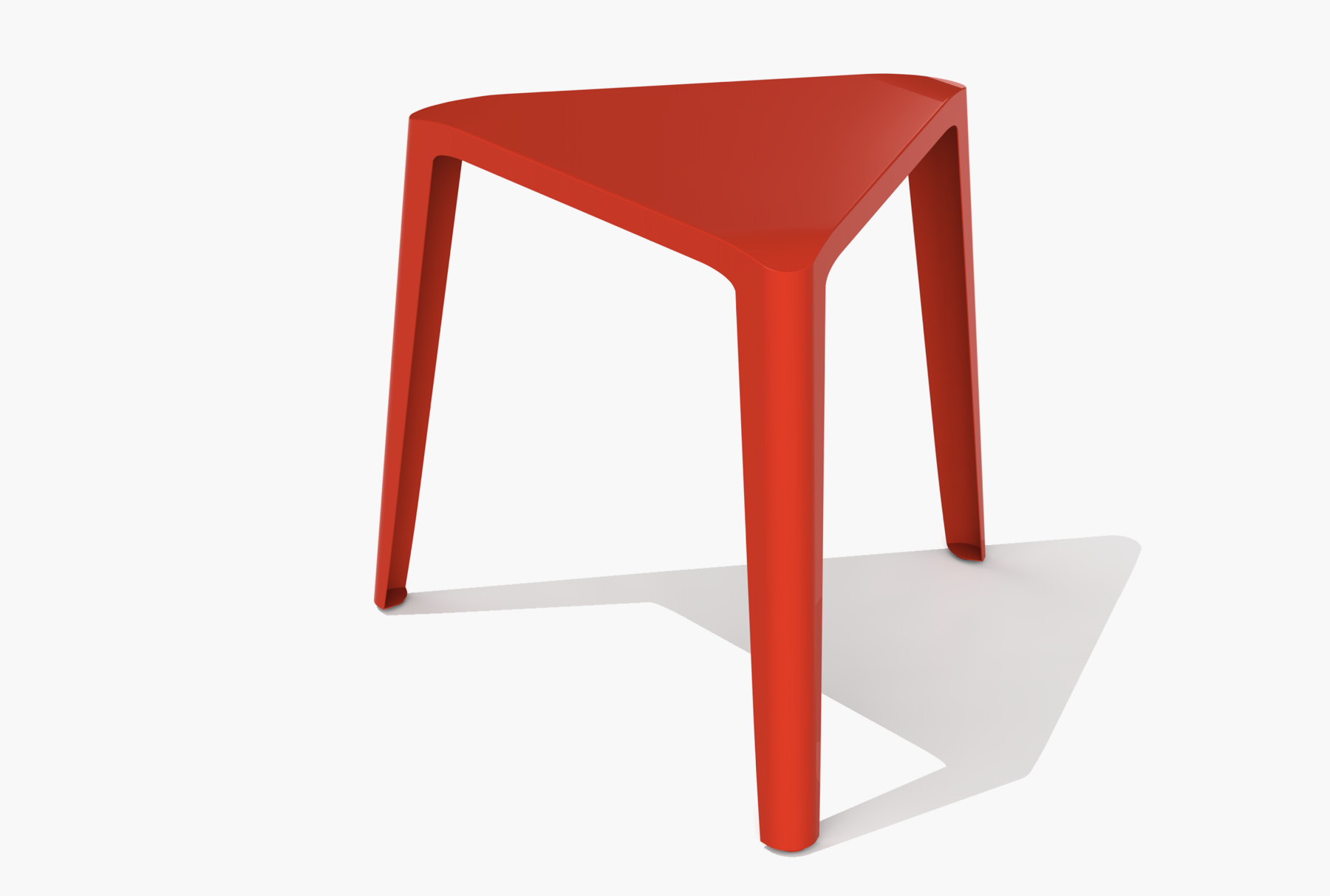 Arktura Clic Low Stool in Spirit Red