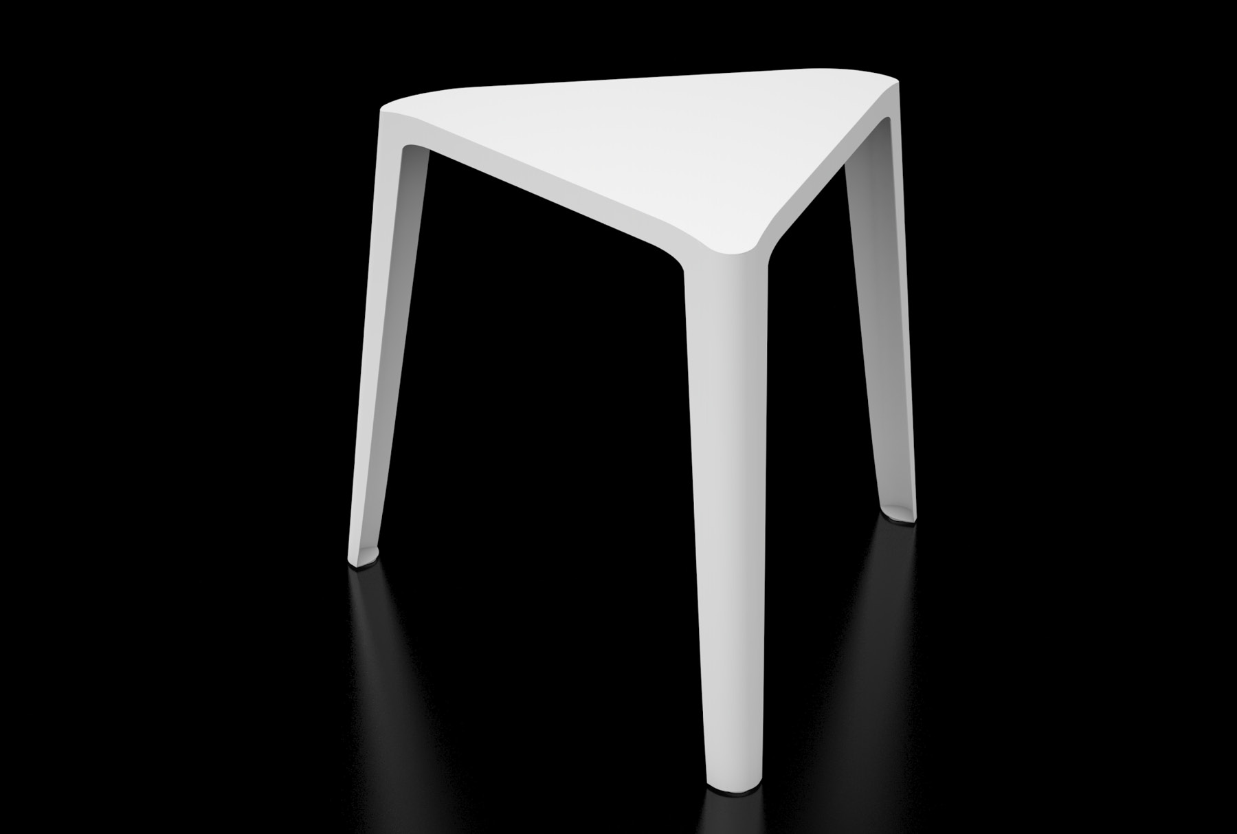 Arktura Clic Low Stool in Brilliant White