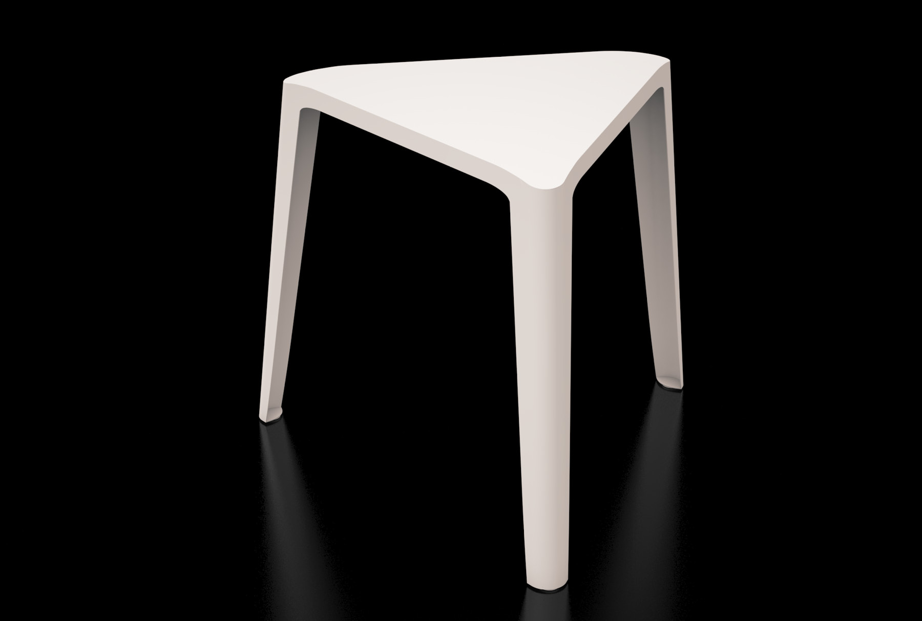 Arktura Clic Low Stool in Cream White