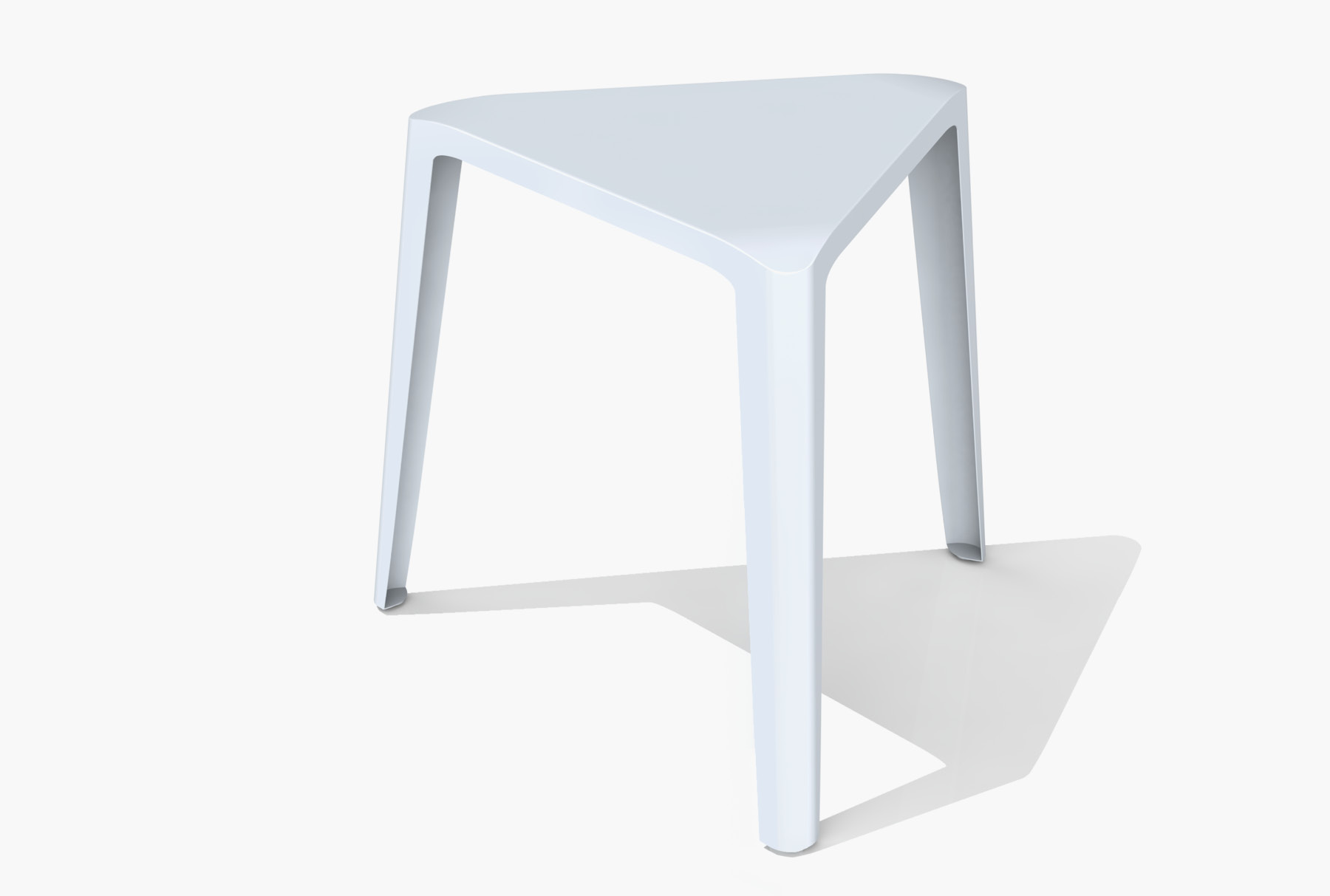 Arktura Clic Low Stool in Glacier Gray
