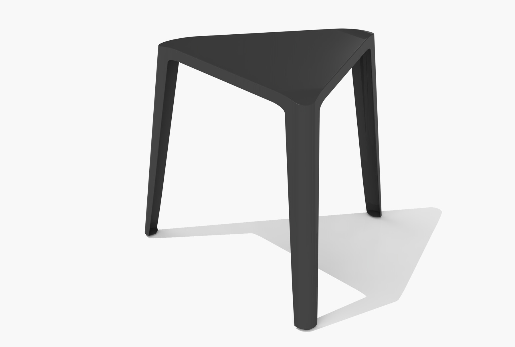 Arktura Clic Low Stool in Jet Black