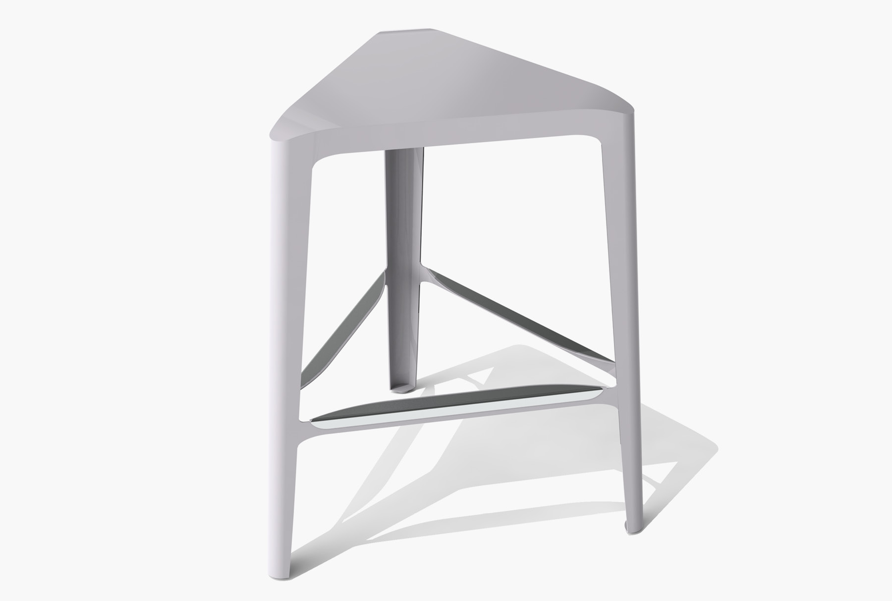 Arktura Clic Mid Stool in Aviator Gray