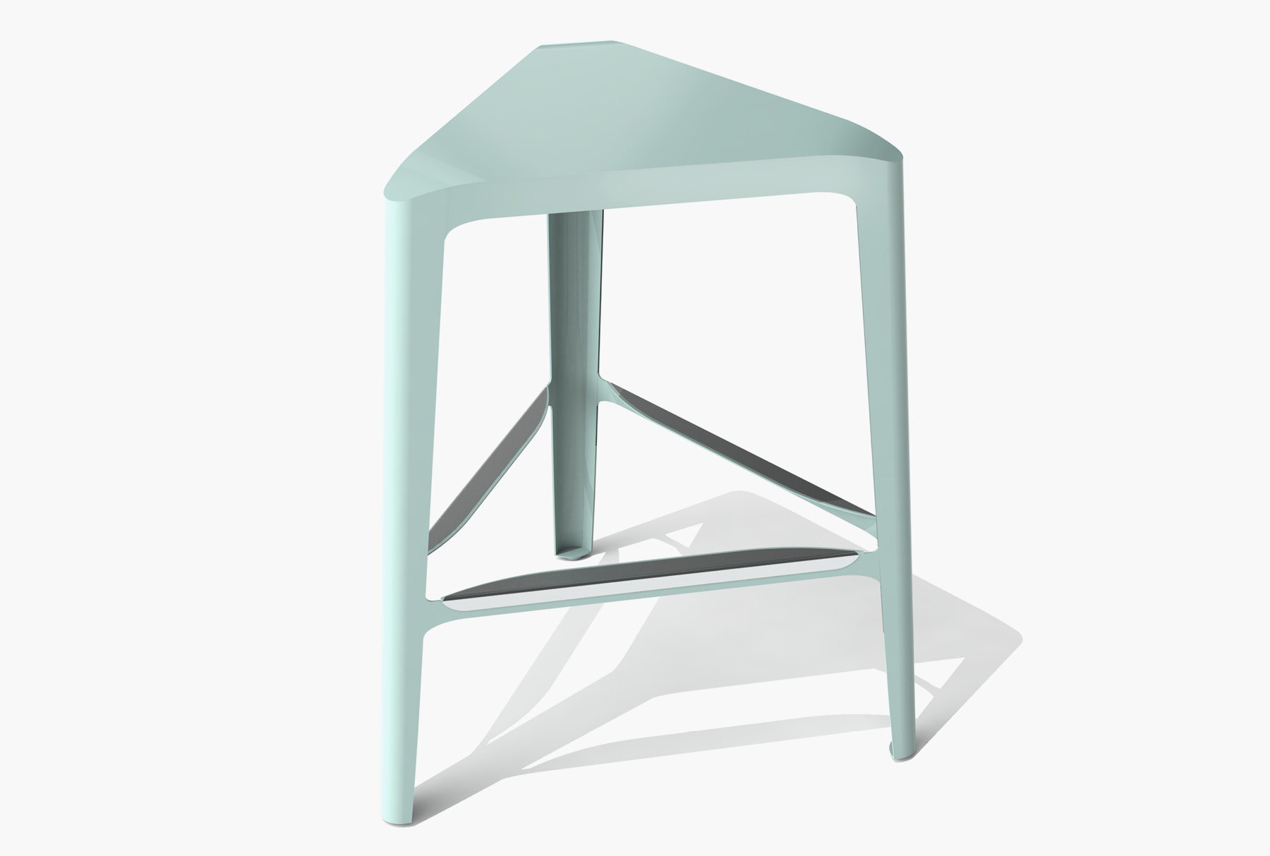 Arktura Clic Mid Stool in Sea Green