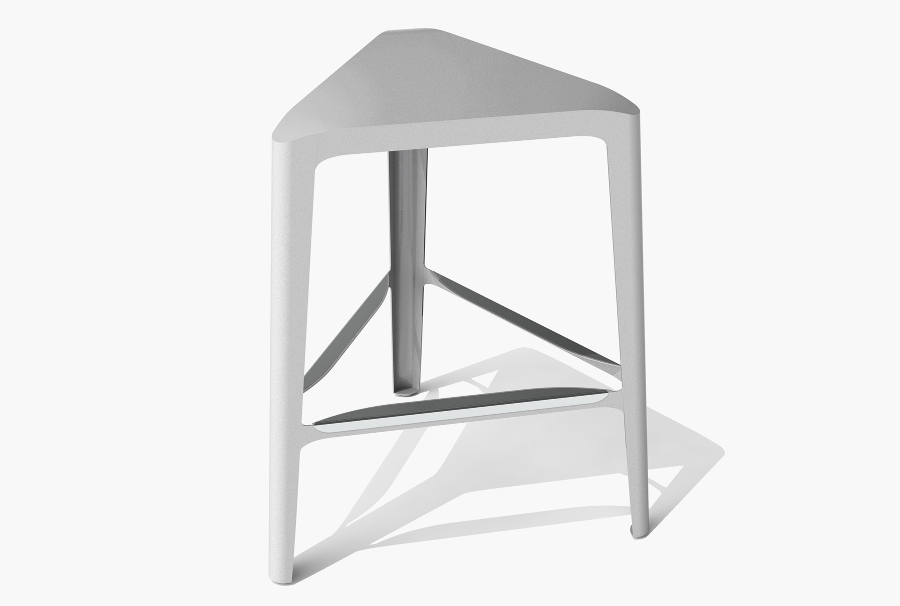 Arktura Clic Mid Stool in Silver Sand