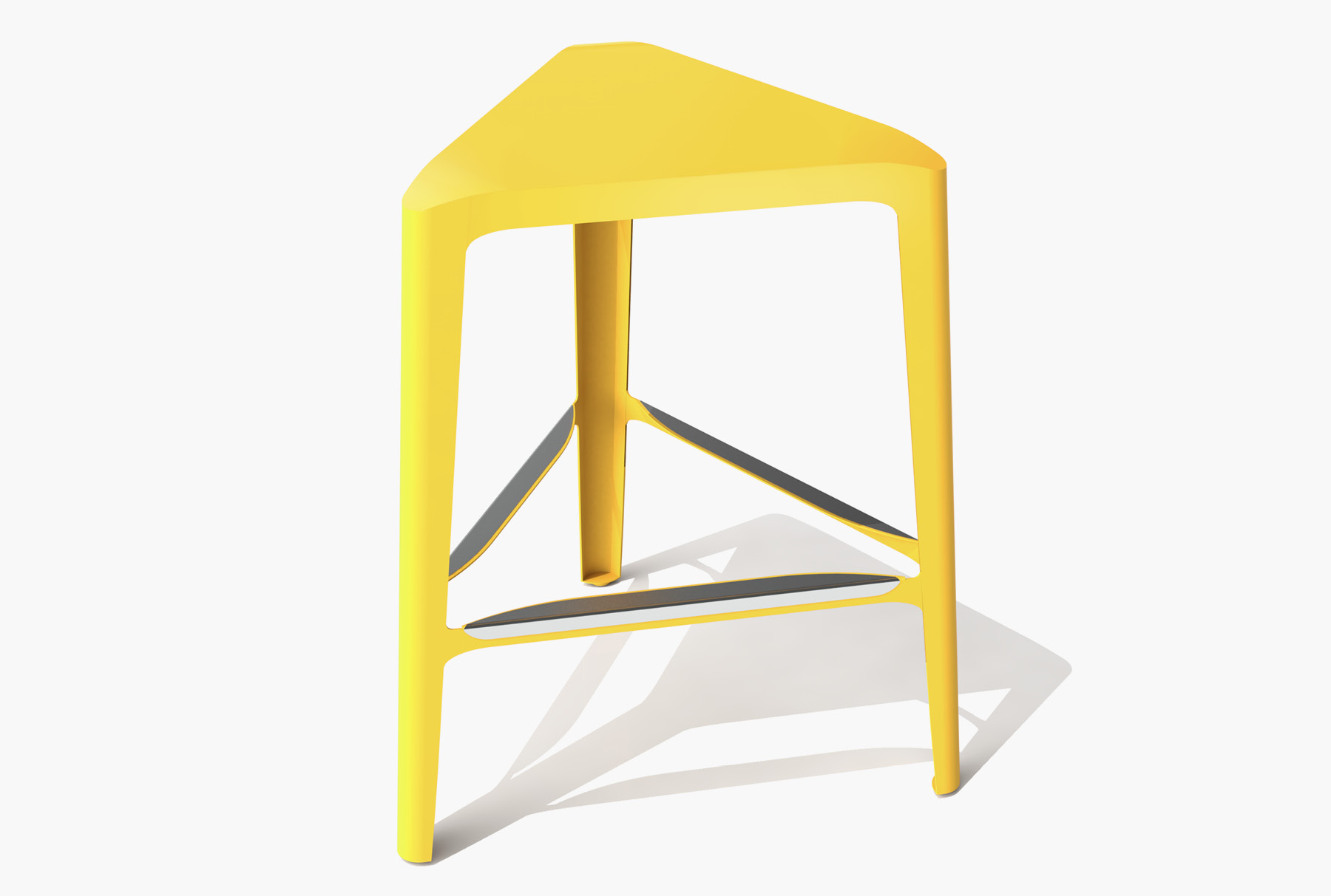 Arktura Clic Mid Stool in Bright Sun