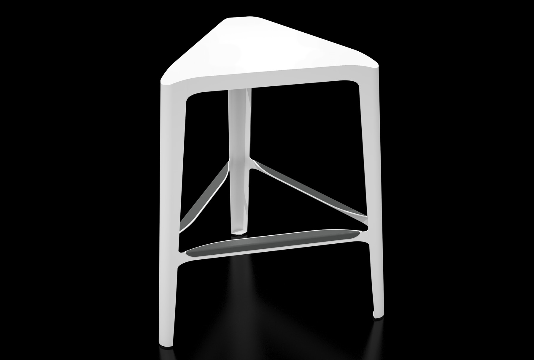 Arktura Clic Mid Stool in Brilliant White