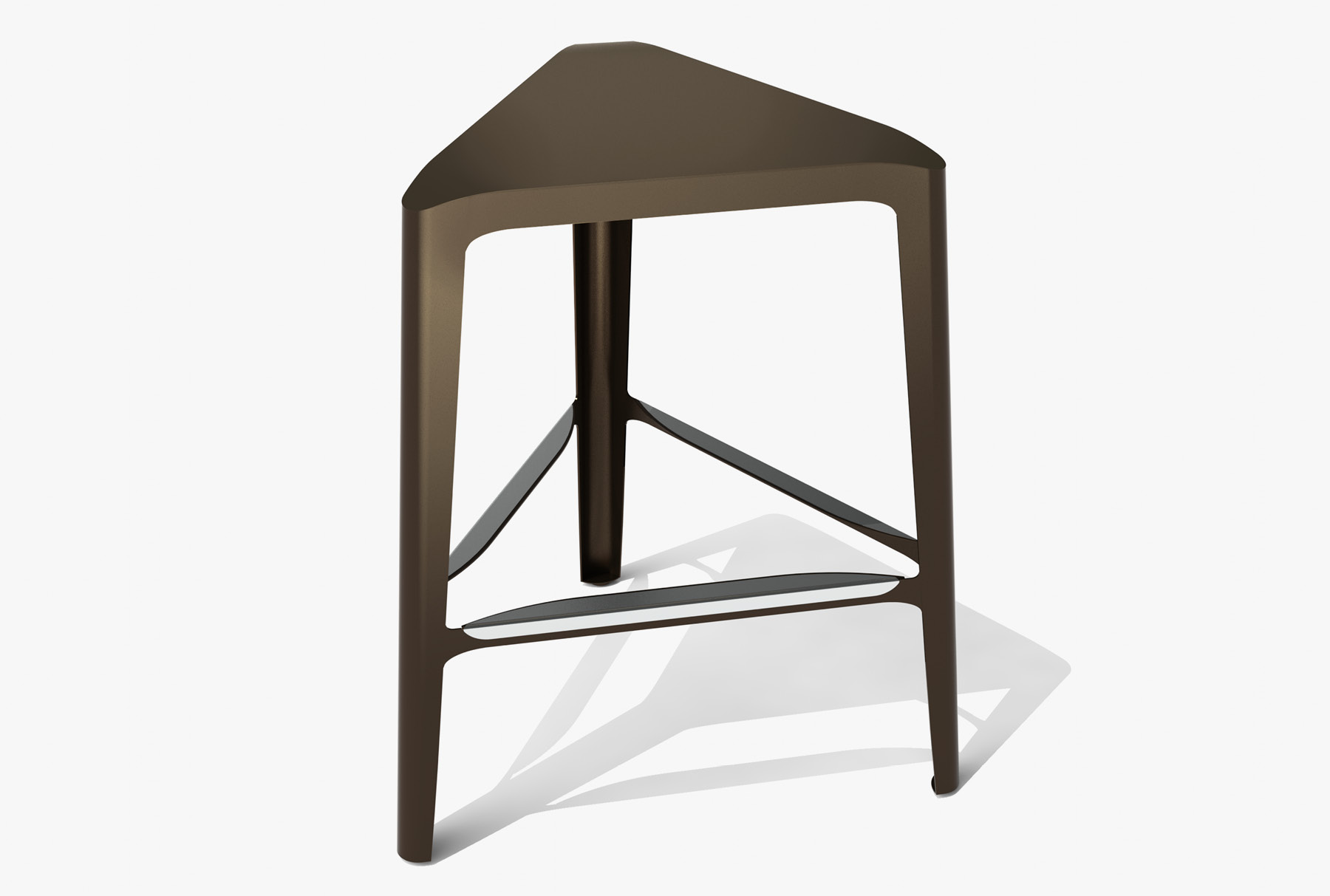 Arktura Clic Mid Stool in Burnished Bronze