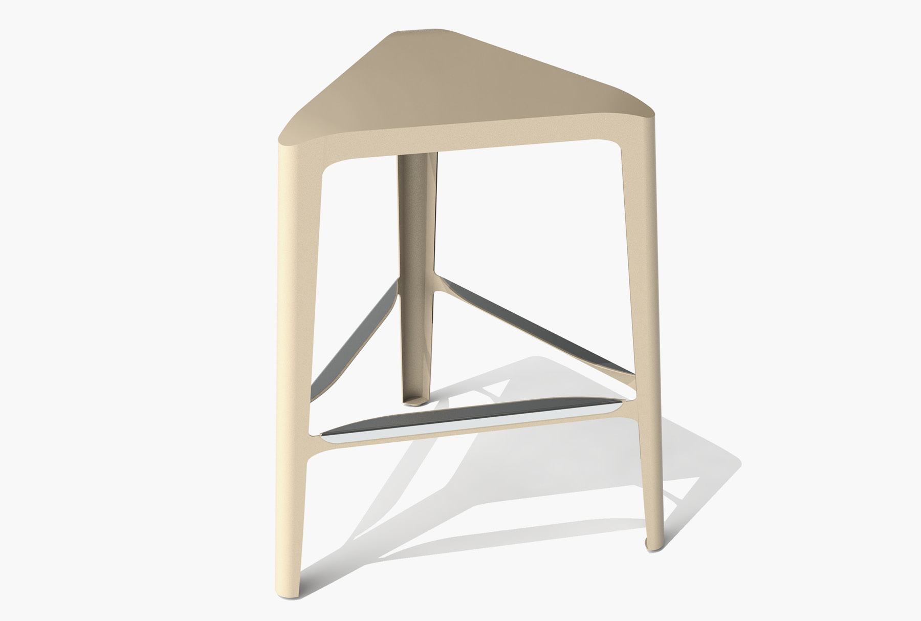 Arktura Clic Mid Stool in Chilled Champagne