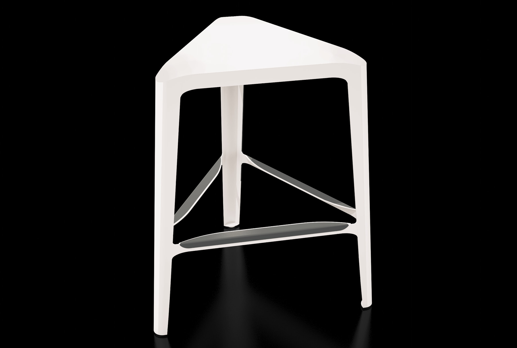 Arktura Clic Mid Stool in Cream White
