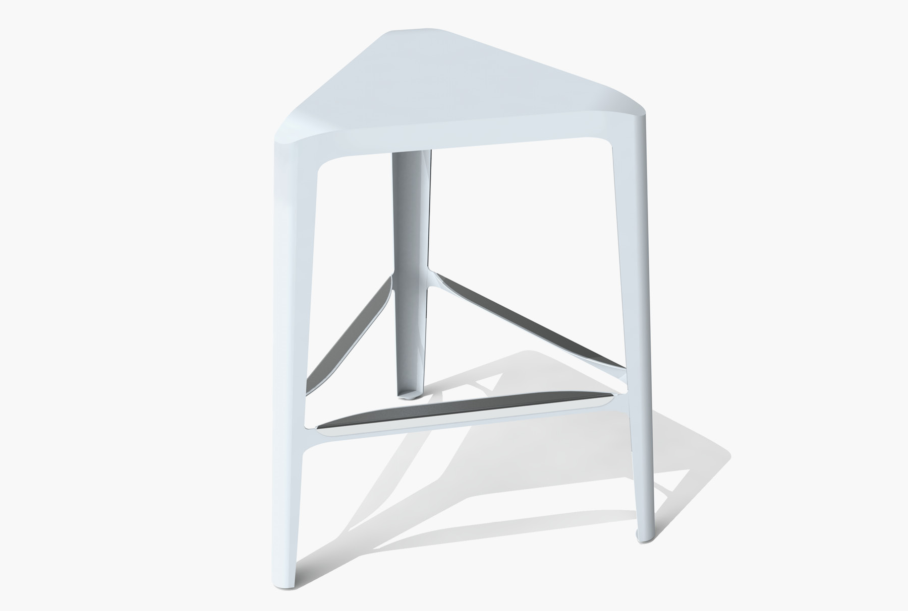 Arktura Clic Mid Stool in Glacier Gray