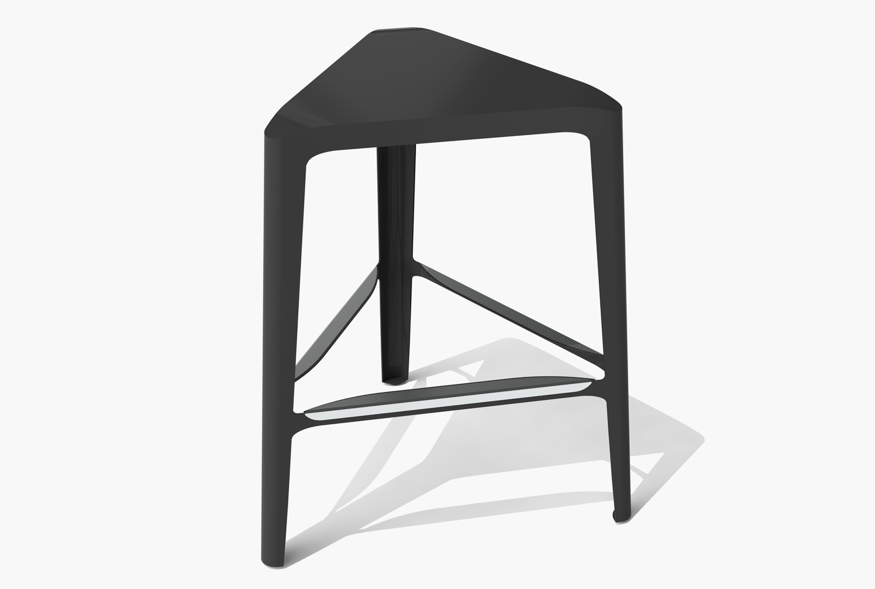 Arktura Clic Mid Stool in Jet Black