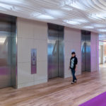 Arktura Atmosphera® Contour installed in elevator lobby