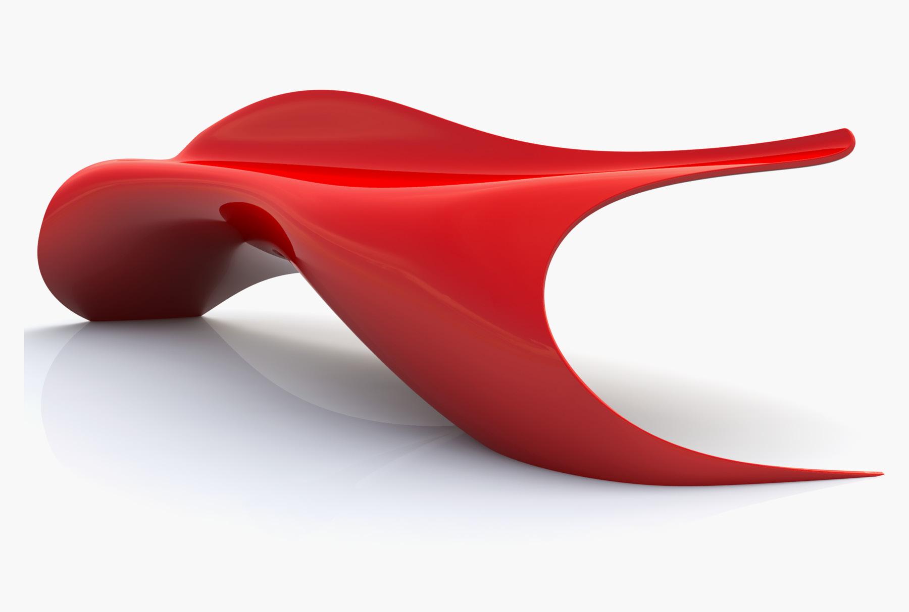Arktura Flow Bench in Spirit Red
