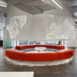 Arktura Graphic Perf® Photoreal Interior curved surface in lobby