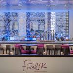 Arktura Solution Studio perforated screens in Frolik Kitchen + Cocktails
