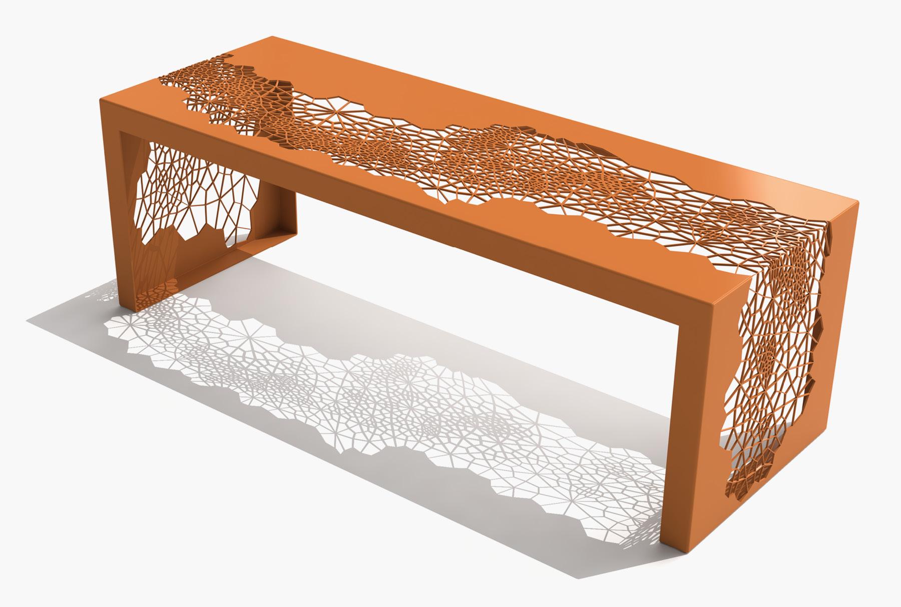 Arktura Hive Bench 50 in Salmon Sky