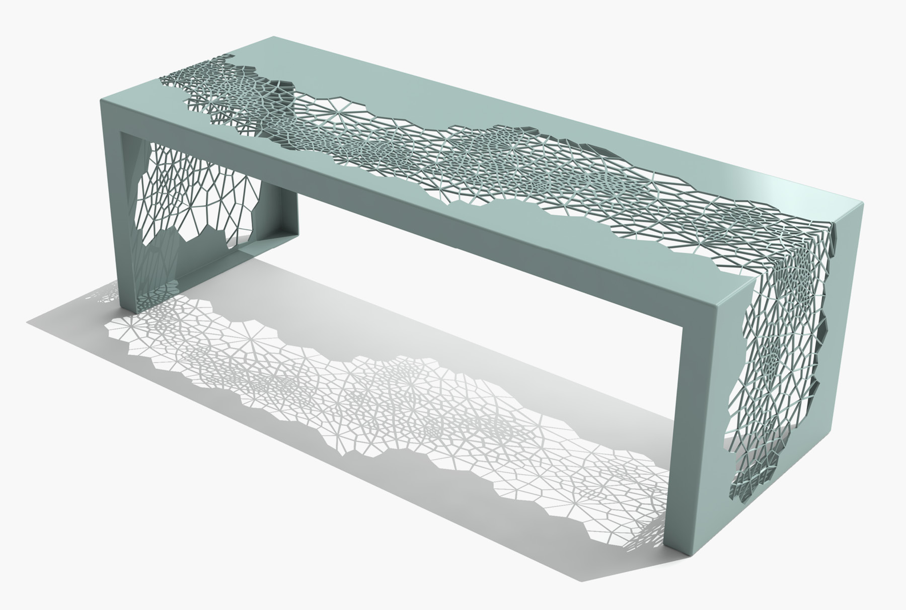 Arktura Hive Bench 50 in Sea Green
