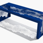 Arktura Hive Bench 50 in Baltic Blue