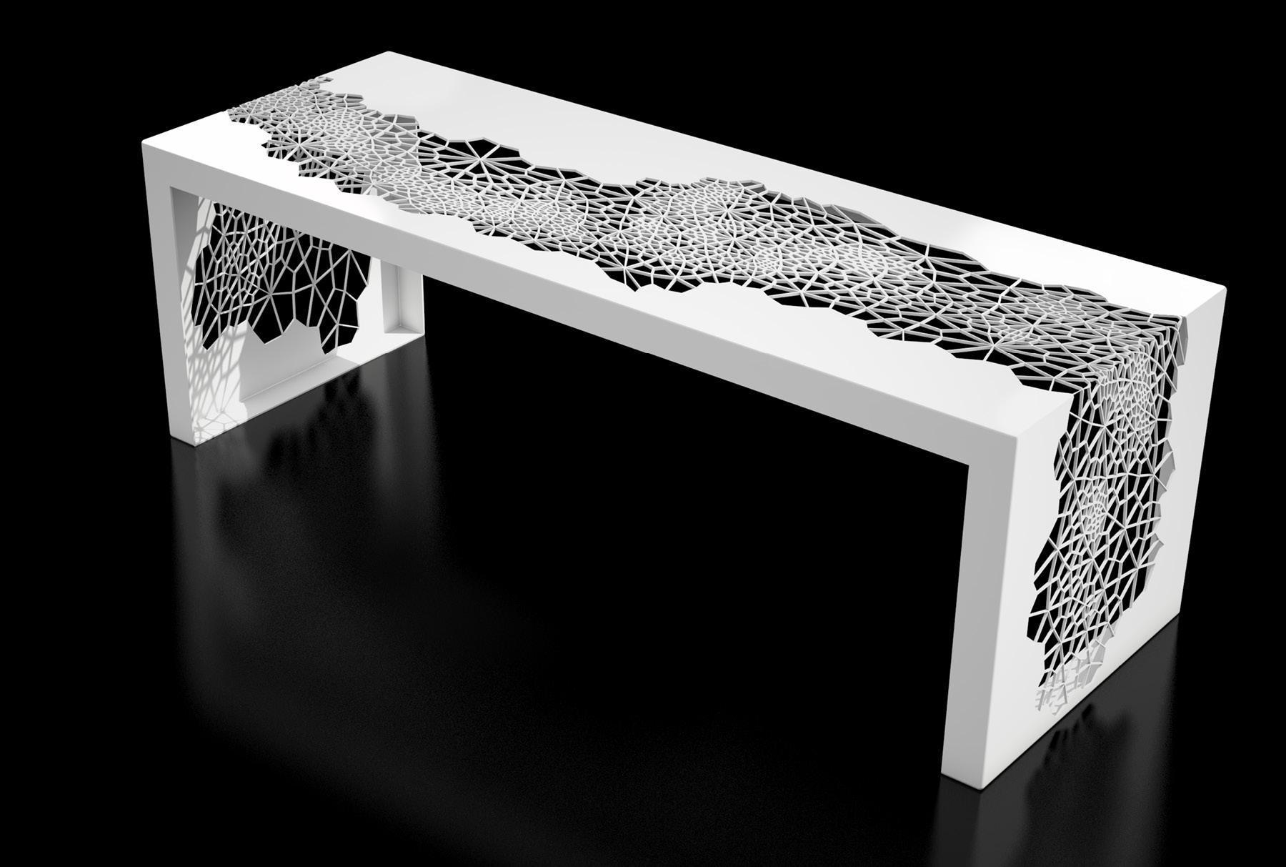 Arktura Hive Bench 50 in Brilliant White