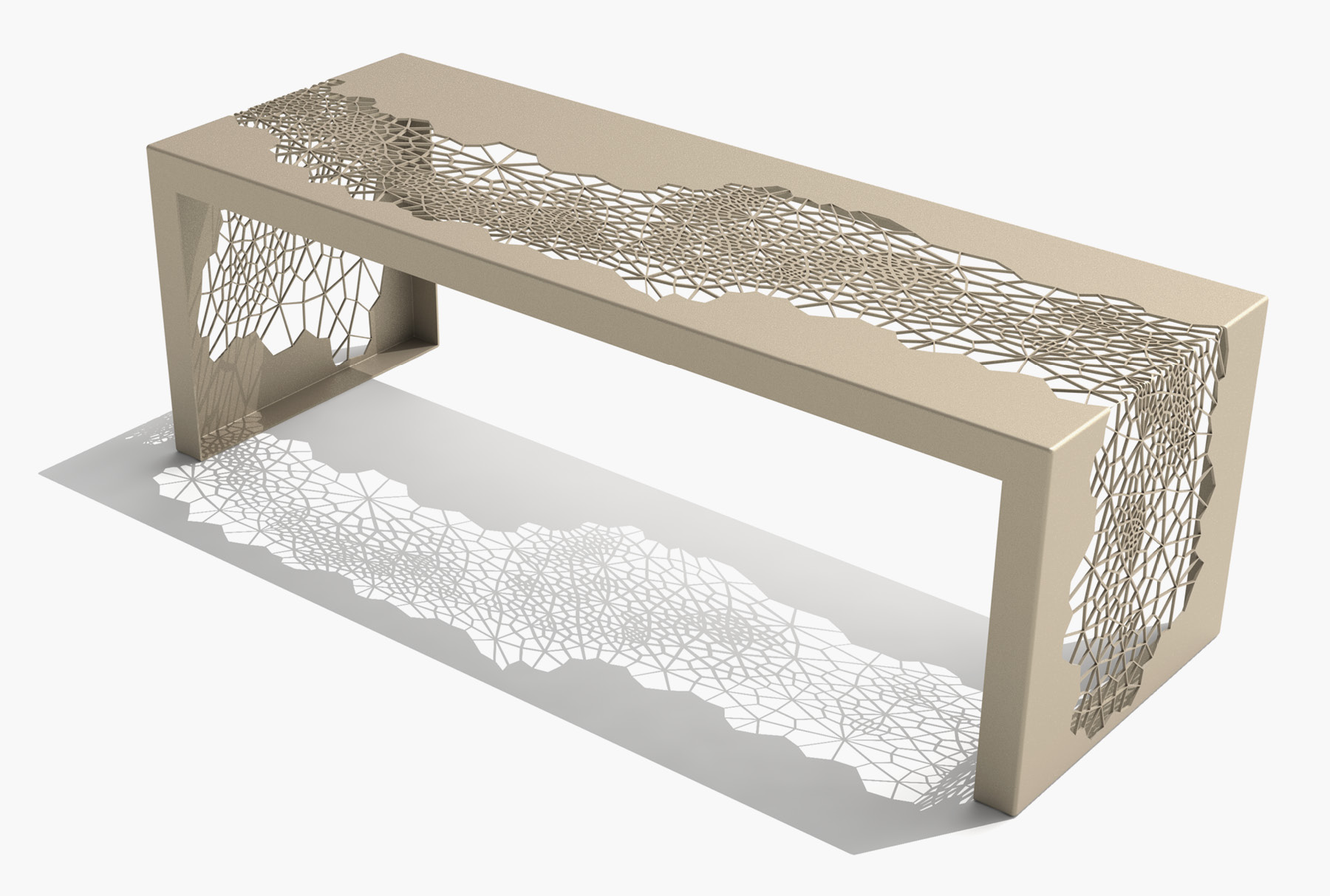 Arktura Hive Bench 50 in Chilled Champagne