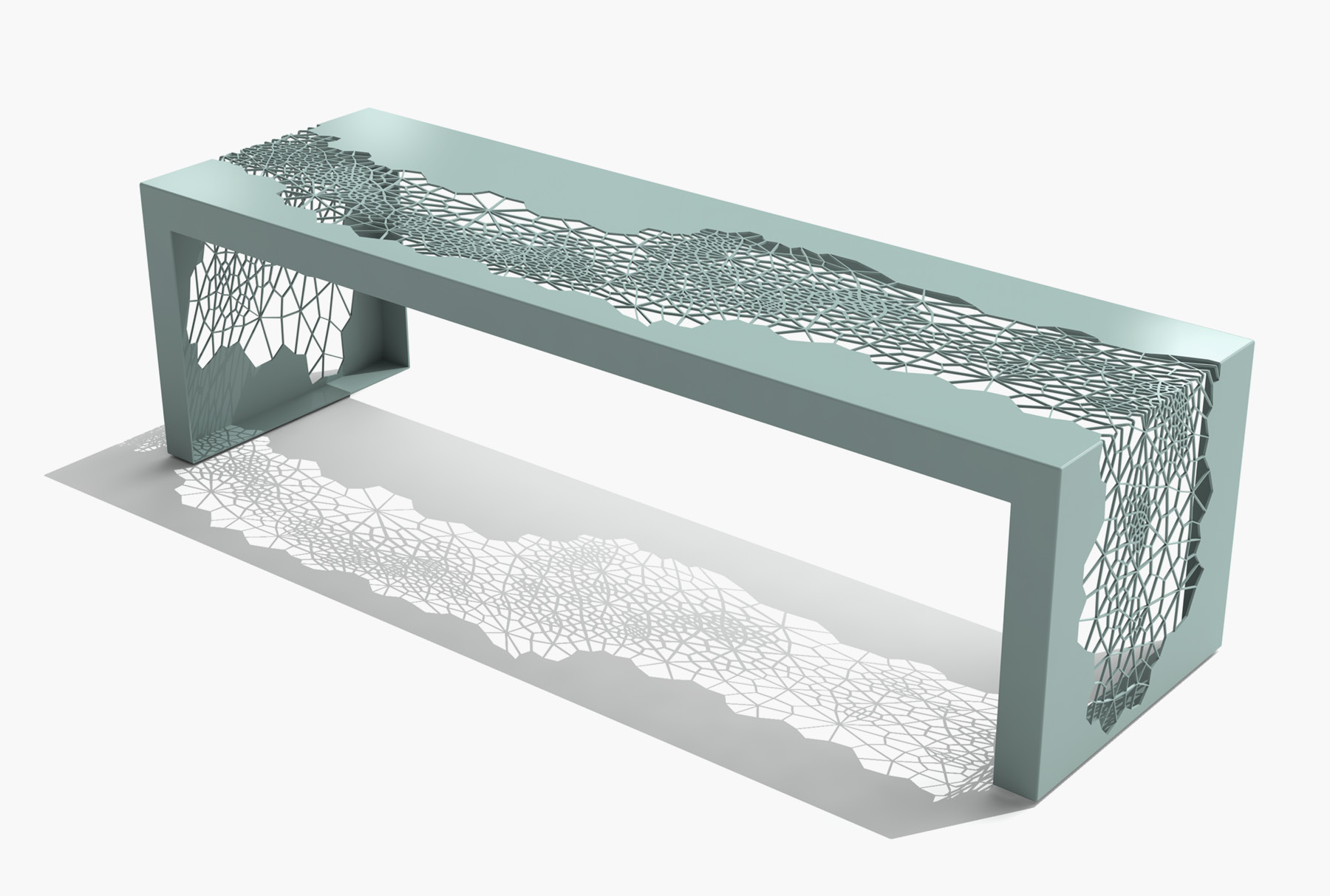 Arktura Hive Bench 60 in Sea Green
