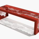 Arktura Hive Bench 60 in Spirit Red