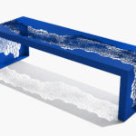 Arktura Hive Bench 60 in Baltic Blue