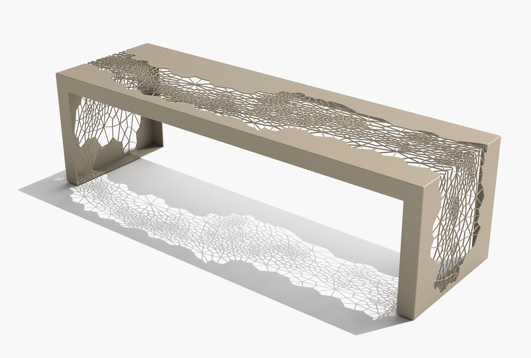Arktura Hive Bench 60 in Chilled Champagne