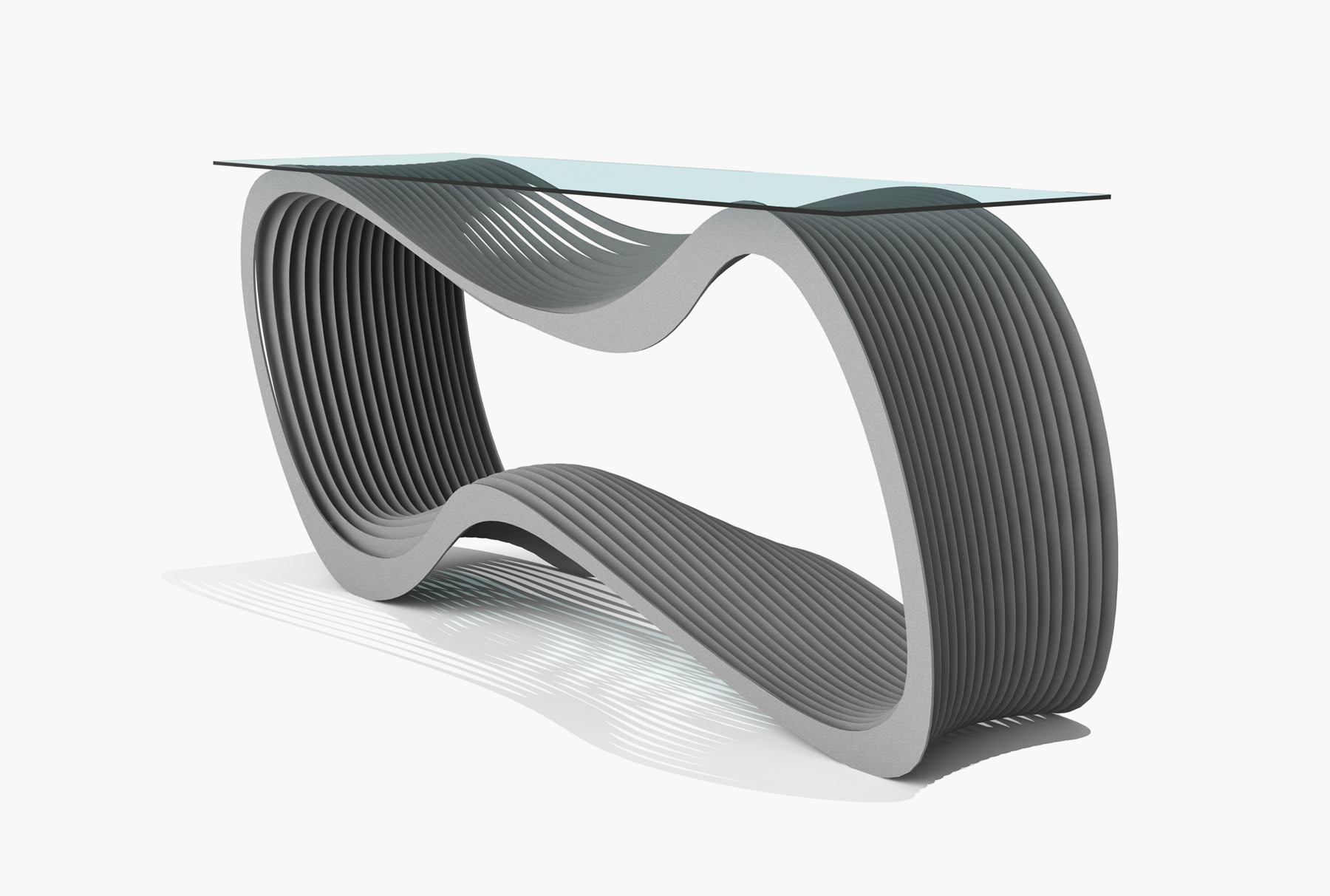 Arktura Loop Console in Silver Sand