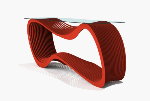 Arktura Loop Console in Spirit Red