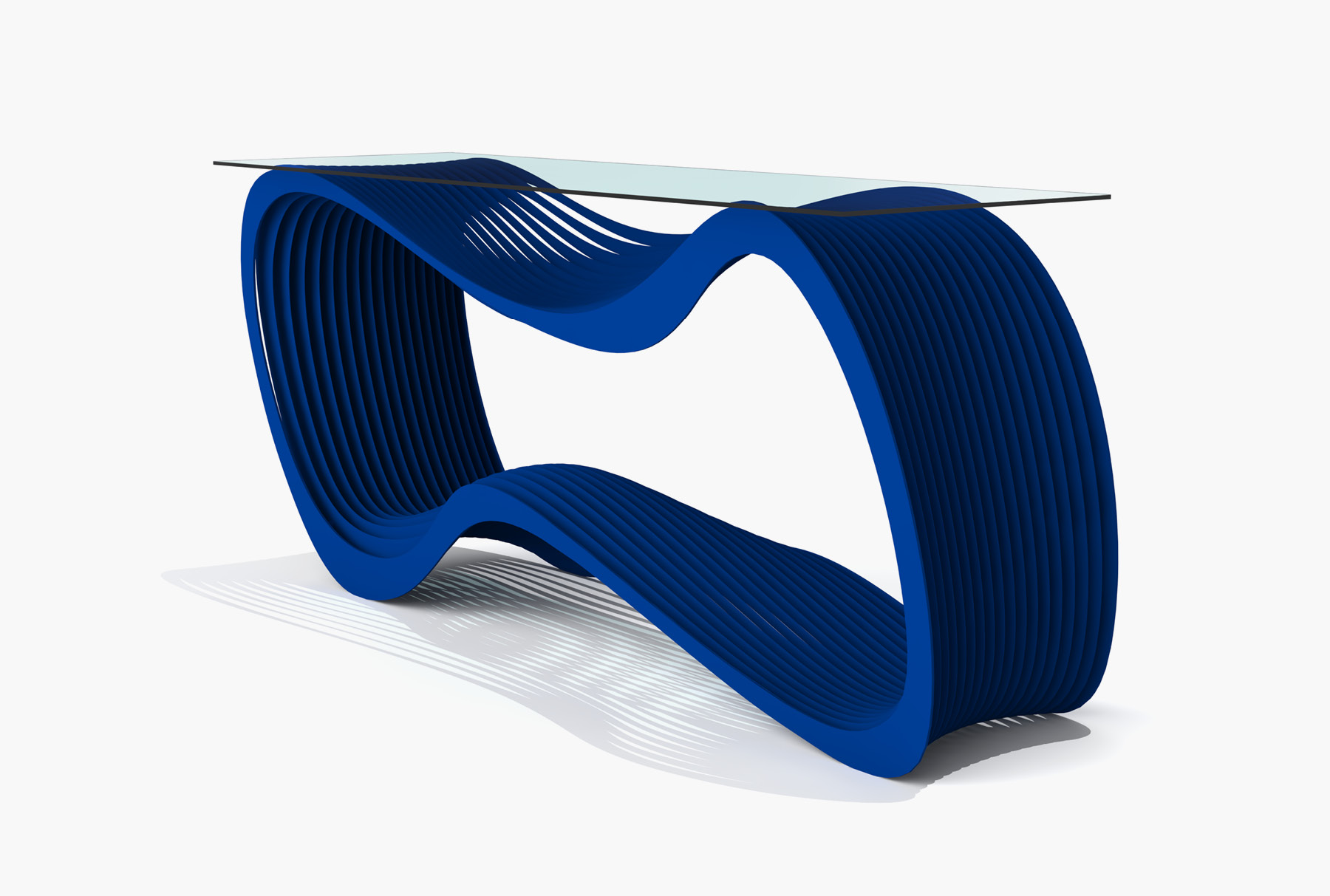 Arktura Loop Console in Baltic Blue