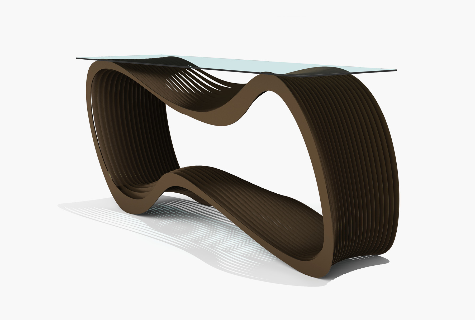 Arktura Loop Console in Burnished Bronze