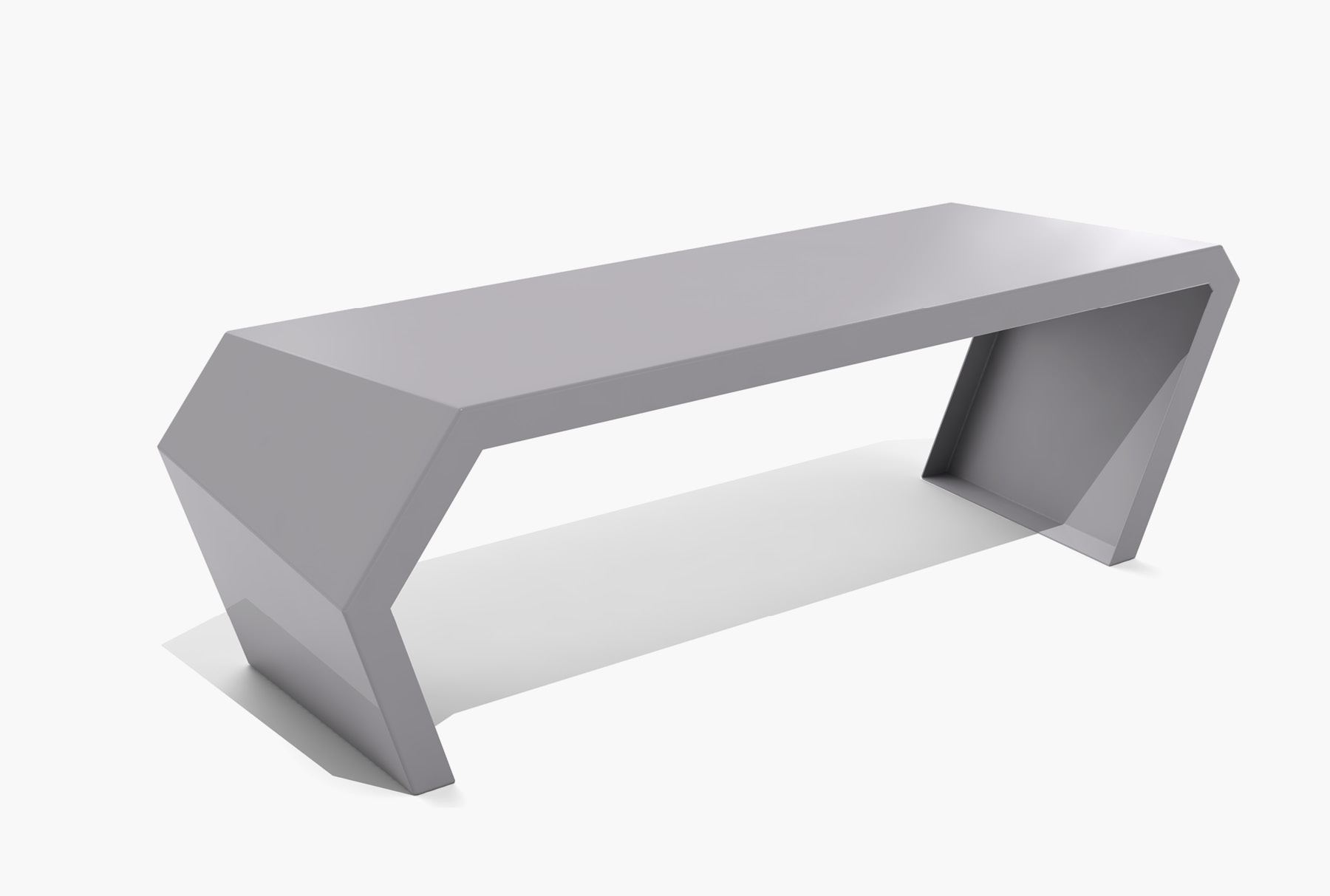 Arktura Pac Bench in Aviator Gray