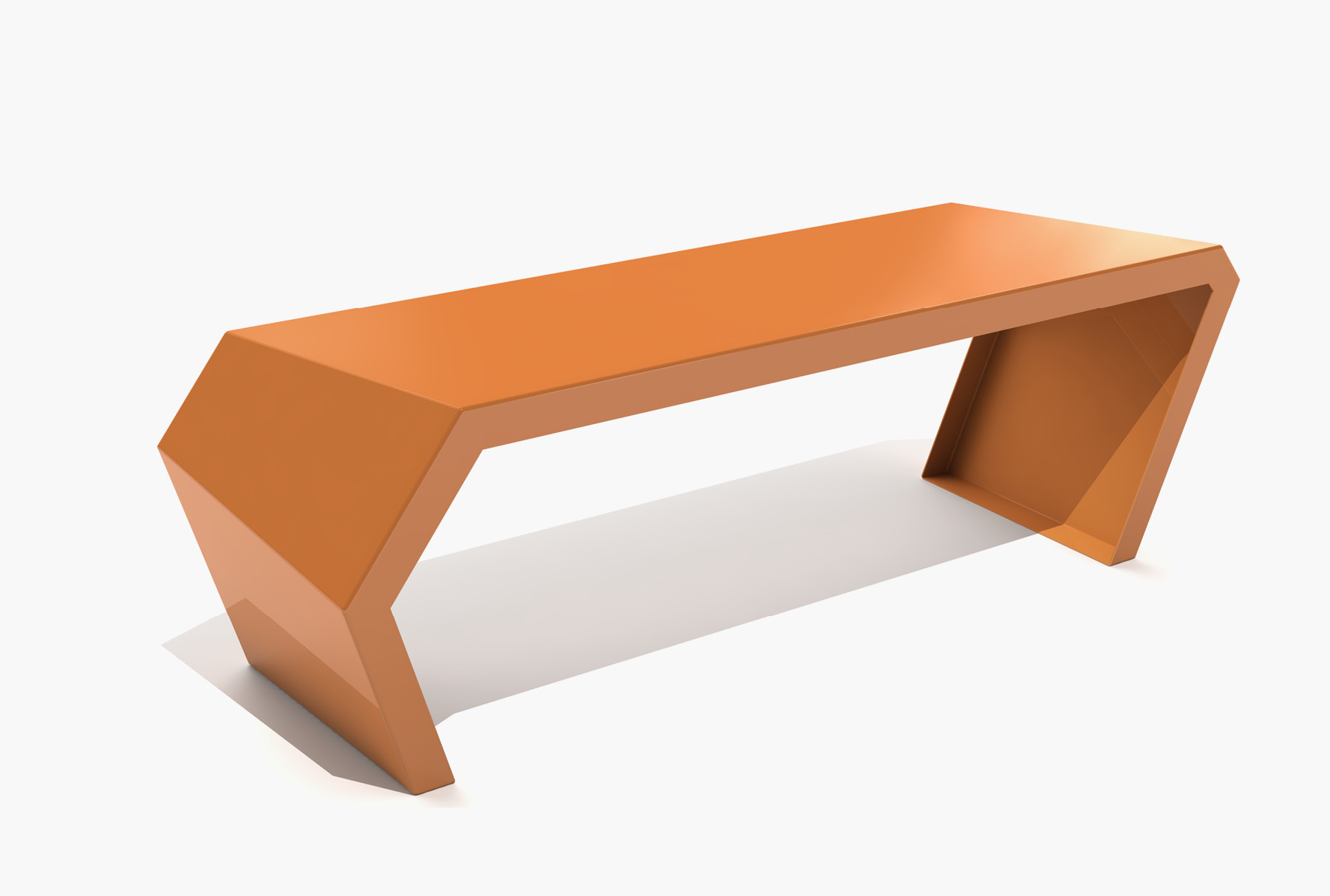 Arktura Pac Bench in Salmon sky