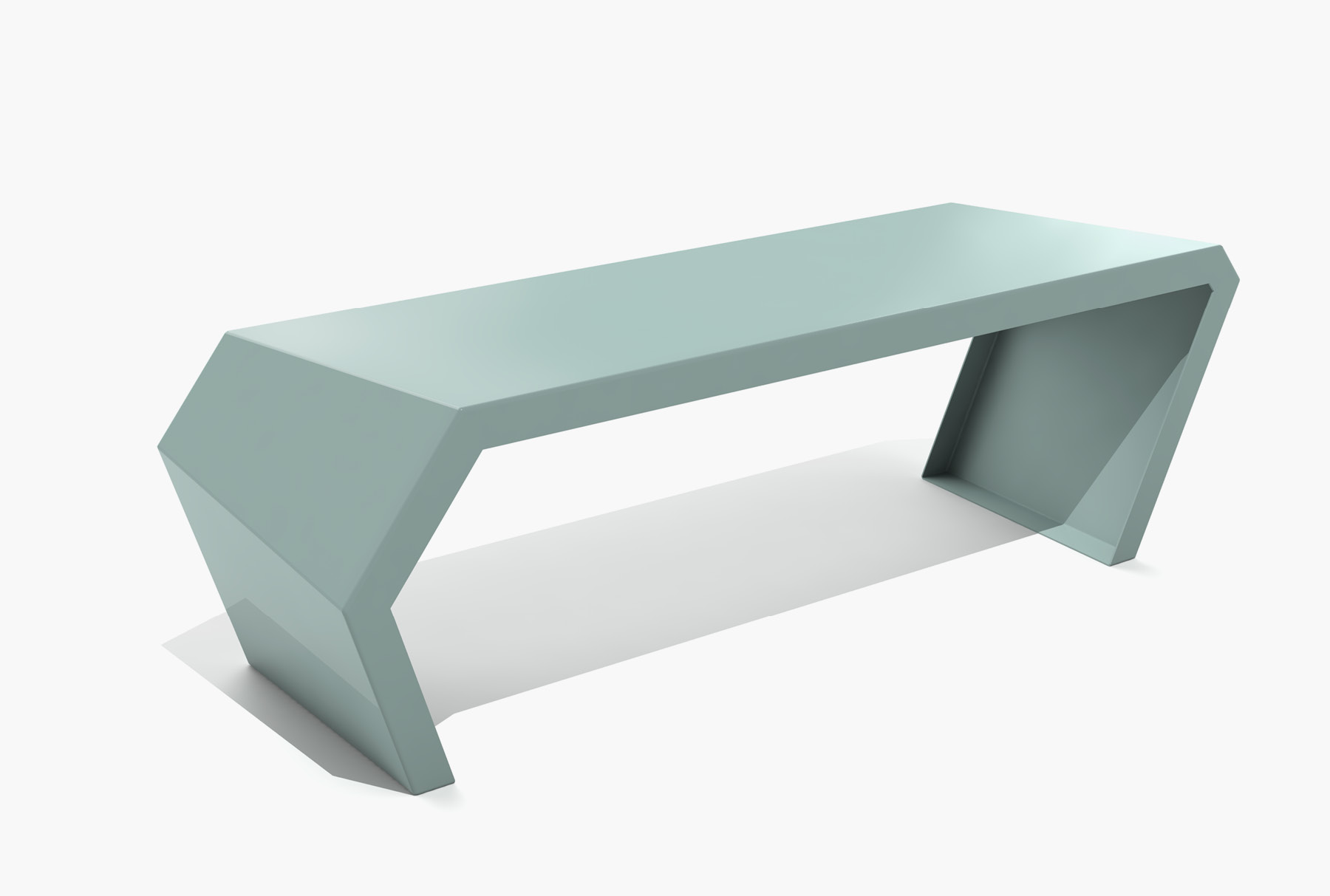 Arktura Pac Bench in Sea Green