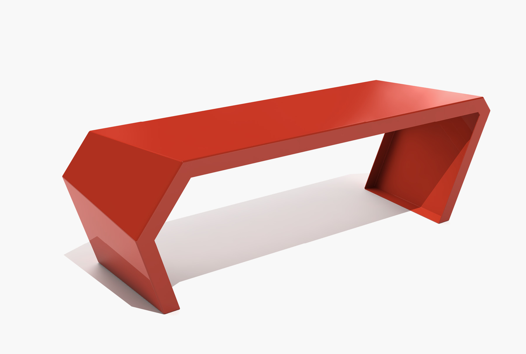 Arktura Pac Bench in Spirit Red