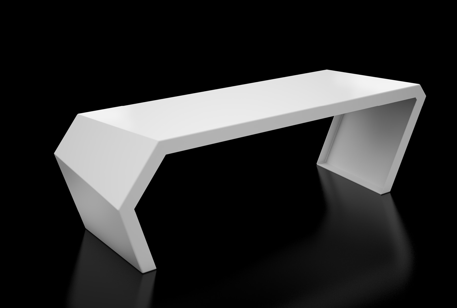 Arktura Pac Bench in Brilliant White